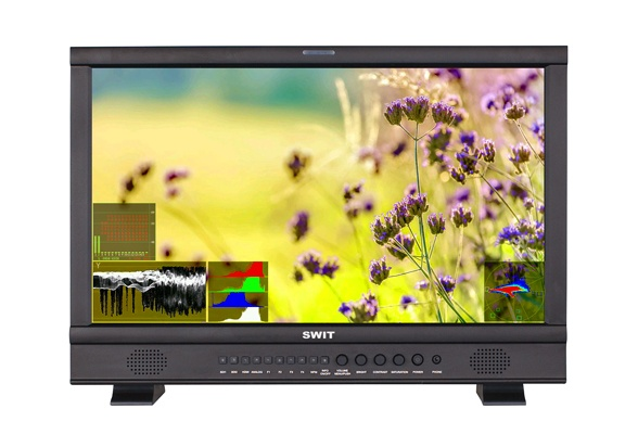 SWIT S-1223F  21.5-inch Full HD SDI/HDMI Waveform Studio LCD Monitor